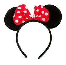 Haarreifen Minnie Mouse Maus Ohren mit Schleife Fasching Karneval