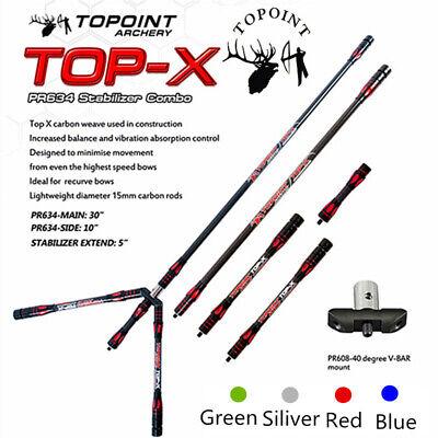 Archery Recurve Bow Carbon Stabilizer Balance Bar Extend Rod Compound Bow Shoot