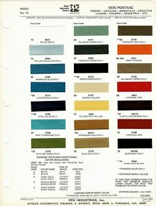 1970-PONTIAC-TEMPEST-LEMANS-GTO-FIREBIRD-BONNEVILLE-GRAND-PRIX-PAINT-CHIPS-PPG