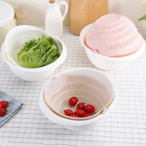Am-Rice-Washer-Strainer-Fruits-Vegetable-Clean-Container-Basket-Colanders-Sifte
