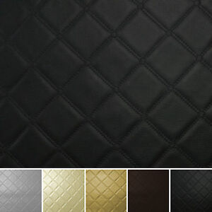 Diamond Stitch Embossed Vinyl Faux Leather Car Upholstery