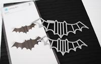 Lifestyle Crafts Quickutz Cutting Die Set Bats3d Halloween, Spooky -dc0191
