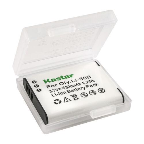 Kastar Batería Cargador LCD para Pentax D-Li92 Optio WG-10 Optio WG-20 Optio WG-30