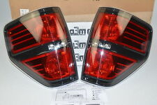 2009-2014 Ford F-150 SVT Raptor Black Tail Light Lamp Pair new OEM AL3Z-13404-AE