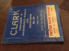 Clark Forklift Carloader D 6d Maintenance Operators Manual Parts