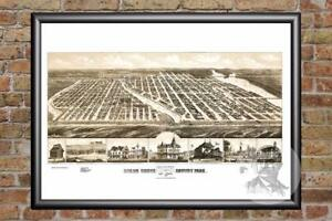 Details about Vintage Ocean Grove, NJ Map 1881 - Historic New Jersey Art  Victorian Industrial