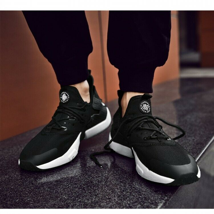 Mens Light Mesh Breathable Lace Up Flats heel Running Casual Sneakers shoes hot