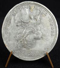 Médaille Félicité trônant sur un nuage 1713 Paix d'Utrecht sc Mauger medal