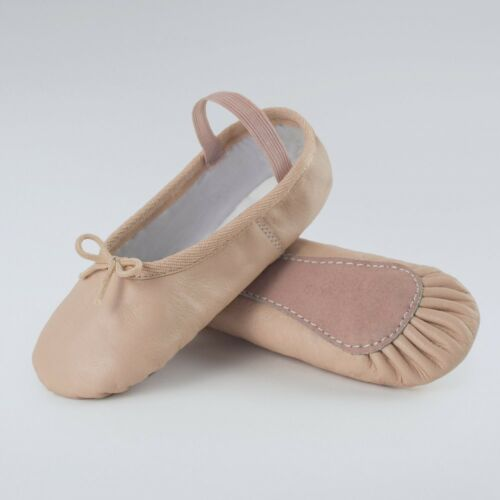 Basic Leather Ballet Shoes Children Pink Dance Gym