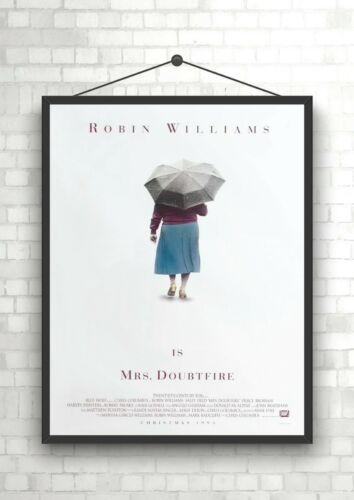 Mrs Doubtfire Robin Wlliams Classic Large Movie Poster Print