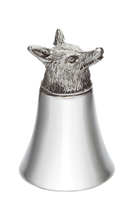 pewter jigger 3oz fox cup head