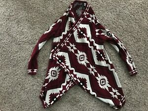 H-amp-M-DIVIDED-SOUTHWESTERN-AZTEC-OPEN-CARDIGAN-SIZE-S