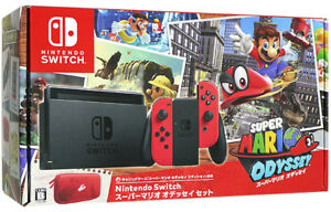 Details About Nintendo Switch Super Mario Odyssey Set Bundle Console Ems