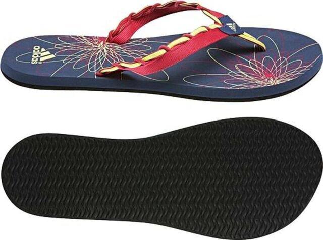 adidas Women's Performance Laosand Flip Flops Sandals steel / pink UK 6