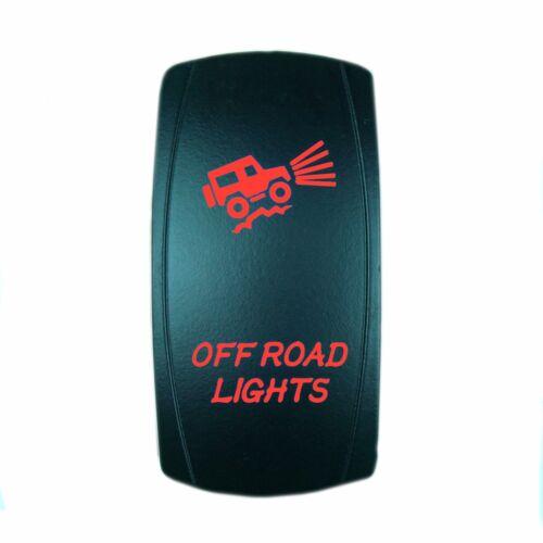 DUAL BACKLIT LED RED OFFROAD LIGHTS ROCKER SWITCH ON//OFF ATV UTV OFF ROAD