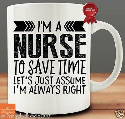 I'M A NURSE TO SAVE TIME...COFFEE MUG TEA CUP GIFT