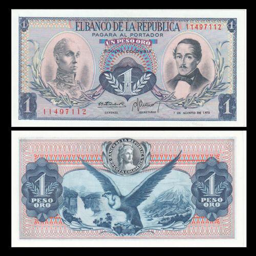 UNC P-404e Colombia 1 Peso Lot 5 PCS 1973
