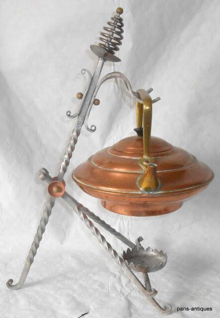 Christophor Dresser Benham & Froud arts & crafts copper& brass kettle & stand.