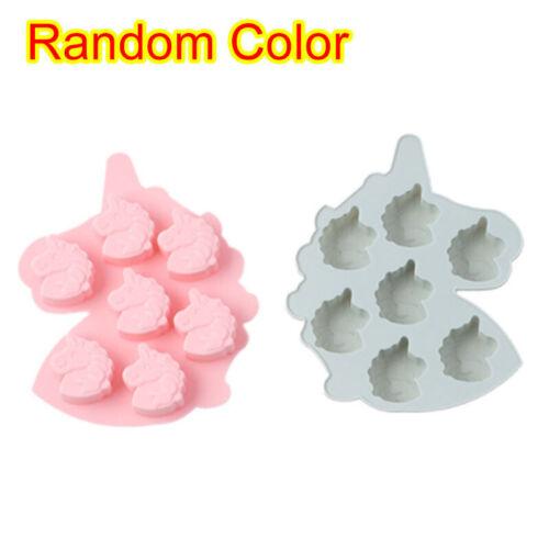 Unicorn Baking Mould Cake Jelly Cookies Soap Mold Chocolate Tray Wax Ice Cube UK