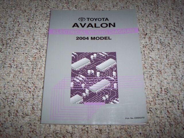 2004 Toyota Avalon Electrical Wiring Diagram Manual Xl Xls