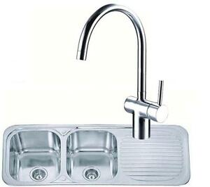 2-0-Stainless-Steel-Kitchen-Sink-Drainer-amp-Side-Lever-Chrome-Mixer-Tap-KST046