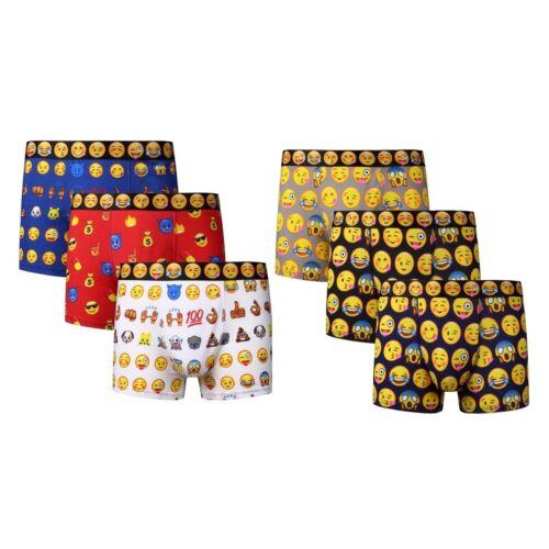 Da Uomo Novità Emoji FACCE giorni d/'umore idea regalo design Cotone Natale Boxer