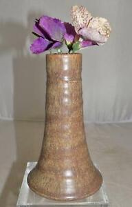 Vintage-German-Studio-Art-Pottery-Vase-Hand-Turned-Marked-MI-5-6-034-tall