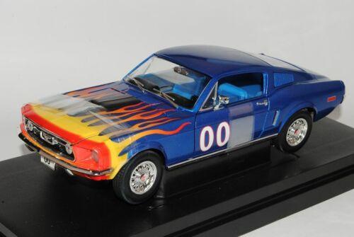Ford Mustang Cooter/'s azul Dukes of Hazzard 1968 1//18 Johnny Lightning modelo...