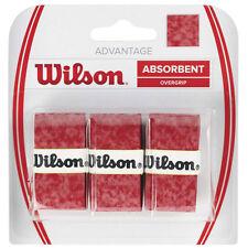3 WILSON Advantage Overgrip Grip/- Rosso-GRATIS P&P