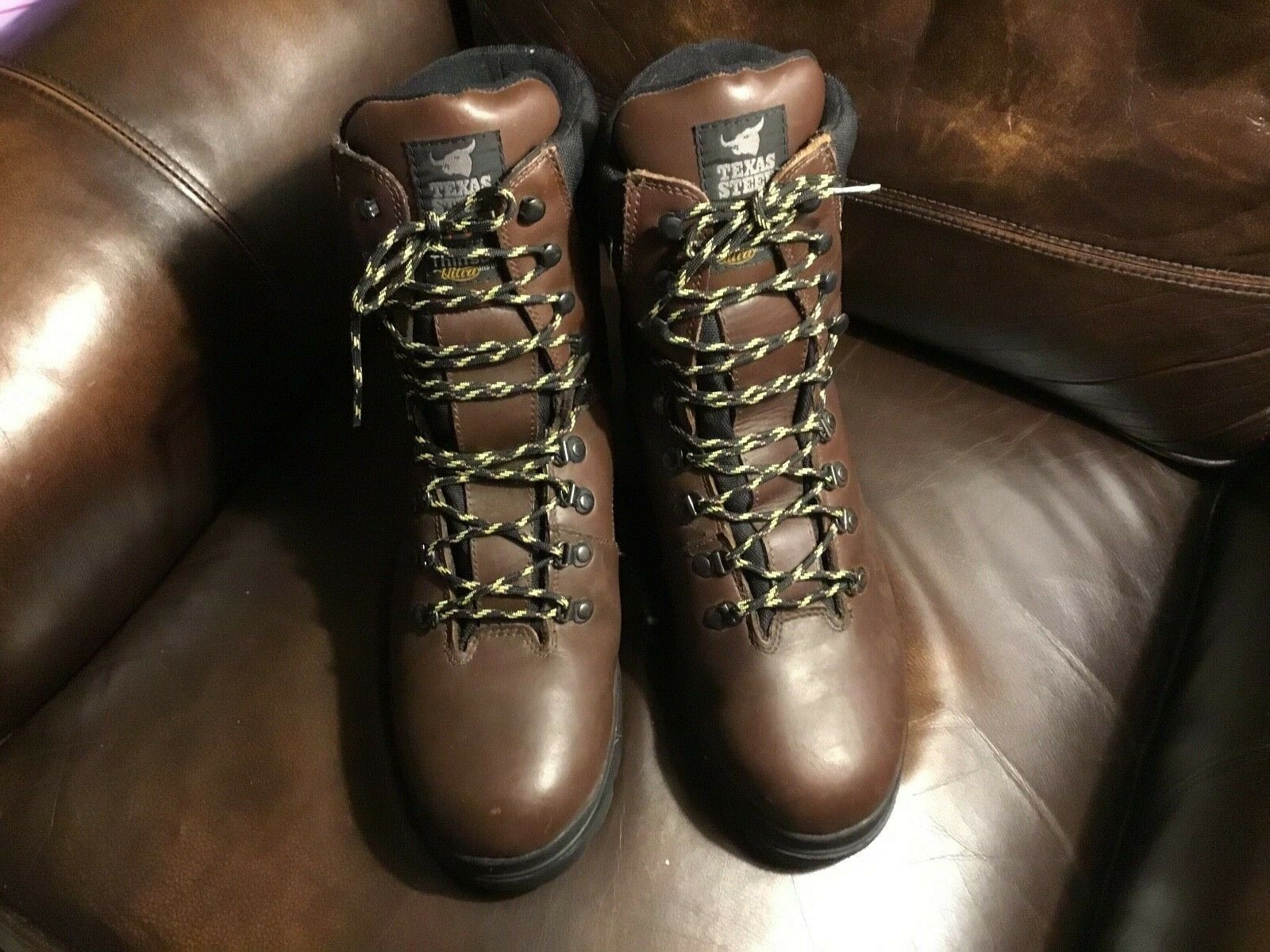 Barely used Texas Steer men's size 13,tall leather hike,work,hunting boots,Look