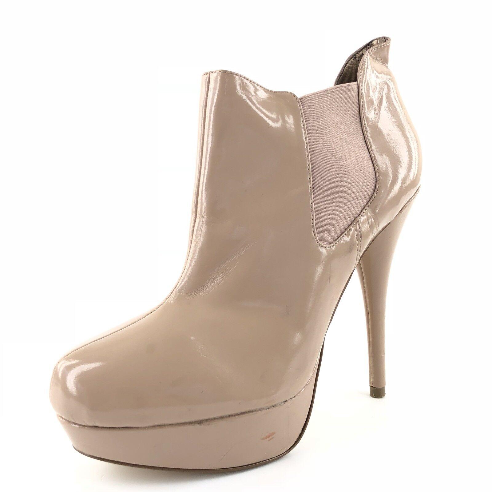 molto popolare Steve Madden Raven Nude Patent Leather Leather Leather Stiletto Ankle stivali Donna  Dimensione 9.5 M  sconto online