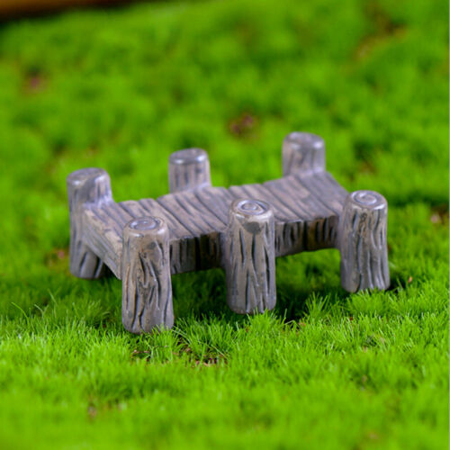 Holzbrücke Gartenfigur Handwerk Micro Landschaft DIY Topfpflanzende Dekor WBCD