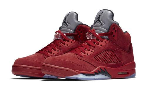 Nike 136027-602 Air Jordan 5 Retro V Flight Suit Size 12 - Red