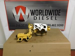 CAT-C-13-Oil-Filter-Base-W-Oil-Manifold-P-N-255-4638-251-6668