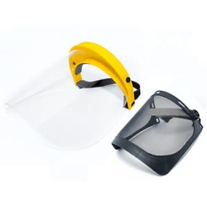 Arbeitsschutz Gesichtsschutz mit Klappvisier-Sichtschutz und Metallnetz Kopfg