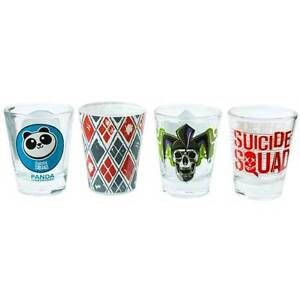 Suicide-Squad-Logos-Shot-Glass-Set-of-4-NEW