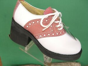 Muro Rose Pink/ white Saddle shoes  UK 4 US 6 1990s