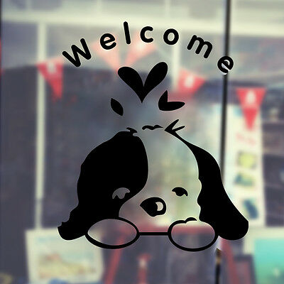 Welcome Dog Home Quote DIY Removable Vinyl Wall Sticker Art Decals Home Decor