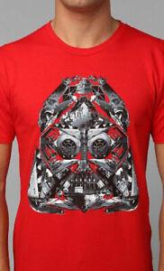 Star-Wars-Darth-Vader-Helmet-Licensed-Graphic-Crewneck-Tee-Shirt-Top-Men-039-s
