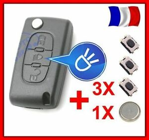 coque plip cl t l commande citroen picasso c2 c3 c4 c5 c6 ce0523 3 switch pile ebay. Black Bedroom Furniture Sets. Home Design Ideas