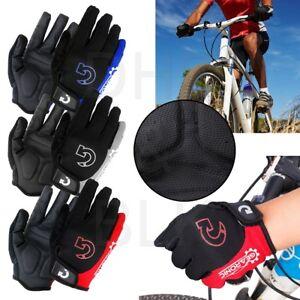 Cycling-Gloves-Bike-Glove-Men-039-s-Women-039-s-Bicycle-Full-Finger-Gel-Pad-Anti-slip