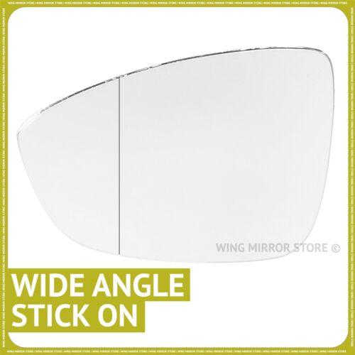 MAIN GAUCHE côté passager pour VW Eos 2011-2014 Grand Angle Wing mirror glass