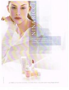 PUBLICITE ADVERTISING  2002   NINA RICCI  cosmétiques