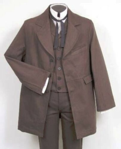 1900s Edwardian Men's Suits and Coats  Gunfighter Coat SASS Steampunk Dickens $78.95 AT vintagedancer.com