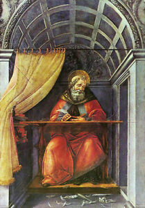 Oil-painting-Sandro-Botticelli-St-Augustine-in-His-Cell-on-canvas