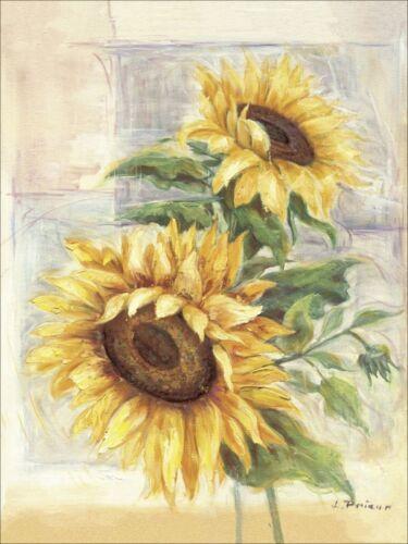 Wandbilder selbstklebend Prieur Botanik Blumen Sonnenblume Malerei Gelb C0ZL