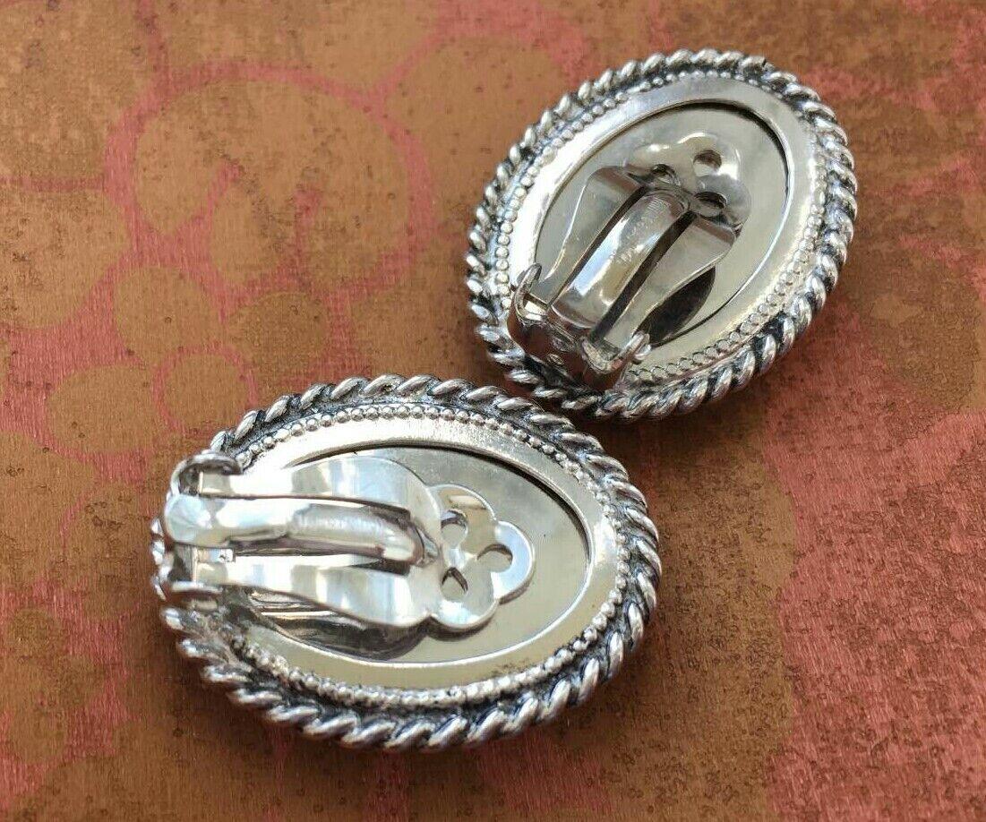 VTG Whiting & Davis Cuff bracelet Earrings Set Si… - image 4