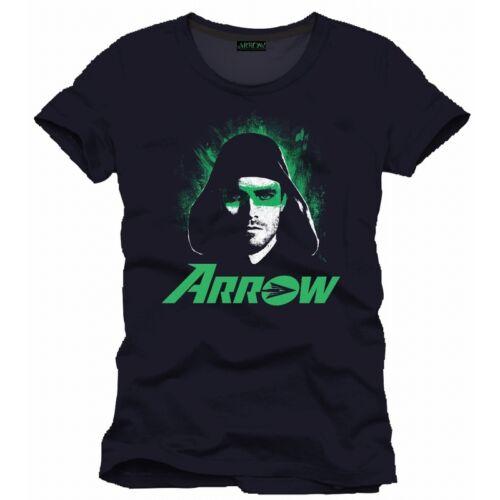 BRAND NEW OFFICIAL DC COMICS GREEN ARROW EYES BLACK T-SHIRT TV SERIES