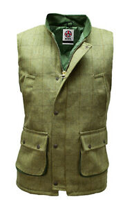 WWK-Derby-Tweed-Bodywarmer-Gilet-Hunting-Shooting-Farming-Sizes-Small-to-4XL