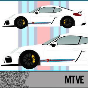 porsche martini racing vinyl stripes cayman r 981 987. Black Bedroom Furniture Sets. Home Design Ideas